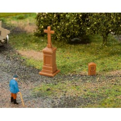 Faller 180911, Przydrożny krzyż i kamień graniczny, H0