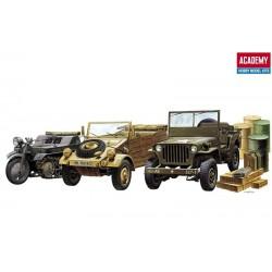 Academy 13416, WWII Zestaw trzech pojazdów (plus), 1:72