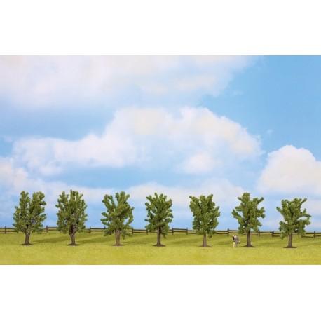 Noch 25088, Zestaw 7 drzew liściastych, 8 cm.