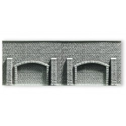 NOCH 58058, Mur oporowy z arkadami, 33,4 x 12,5 cm, H0