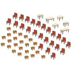 Faller 180438, Stoły i krzesła, skala H0