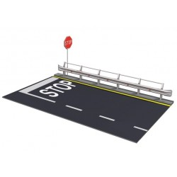 Italeri 3864, Guard Rail & Road Section for display, 1:24