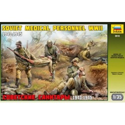 Zvezda 3618, WWII, Soviet Medical Personnel, 1:35