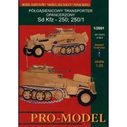 PROMODEL 4, Sd Kfz - 250, 250/1, skala 1:25
