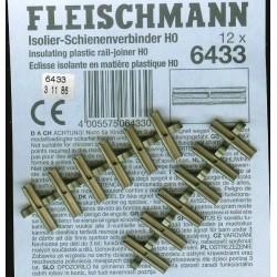 Fleischmann 6433, Złączki izolacyjne, 12 szt., H0 Profi-Gleis