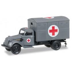 "Herpa 745406, Ural ambulance box ""German Forces"", skala H0"