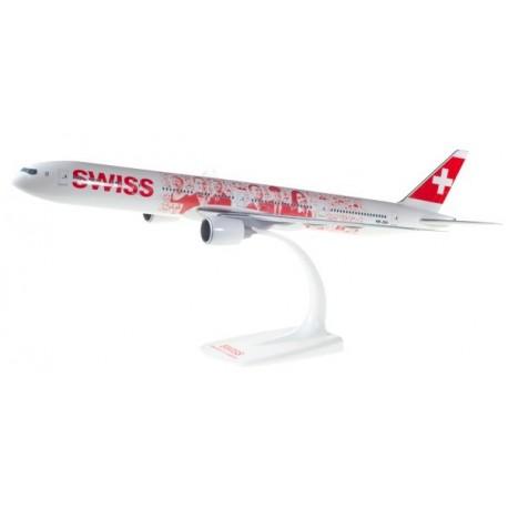 "HERPA 611671  Swiss International Air Lines Boeing 777-300ER ""Faces of Swiss"" - HB-JNA"