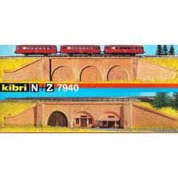 Kibri 7940, Mur oporowy z arkadami, skala N (Z)