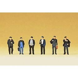 Preiser 88530, Robotnicy, dokerzy, w drodze do pracy, skala Z (1:220)