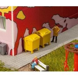 Faller 180913, Kontenery na śmieci, żółte, H0