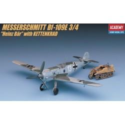 Academy 12499, Messerschmitt Bf 109e + Kettenkrad, 1:72