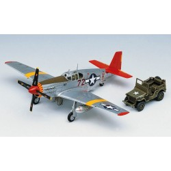 Academy 12501, P-51C Mustang + Jeep, 1:72