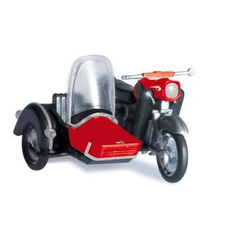 Herpa 053433, motocykl MZ 250 z koszem, skala H0
