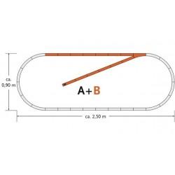 Roco 61101, Zestaw torów B, H0 GeoLine.