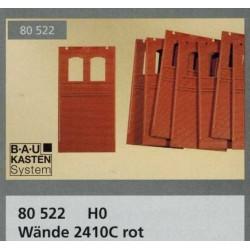 Auhagen 80522, Ściany 2410 C, czerwone, 8 sztuk