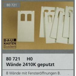 Auhagen 80721, Ściany 2410K tynkowane, białe