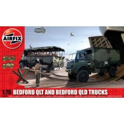 Airfix 03306, Bedford QLT and Bedford QLD Trucks, 1:76
