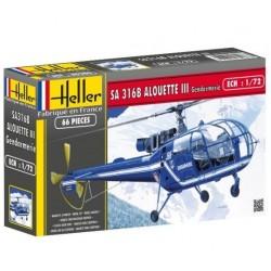 Heller 80286, SA 316 B ALOUETTE III Gendarmerie, 1:72