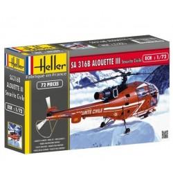 Heller 80289, ALOUETTE III, skala 1:72