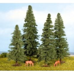 Noch 25232, Zestaw drzew (4 szt.) 8-12 cm. H0 / TT