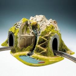 NOCH 05170, Krajobraz z tunelem, górą i jeziorem