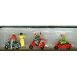 Preiser 10607, Skutery VESPA wraz z figurkami, H0