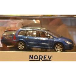 Norev 473712, Peugeot 307 SW, blue met., skala 1:43