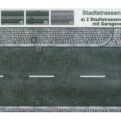 Heki 12052, Ulice - różne, skala H0, 3 arkusze, karton.