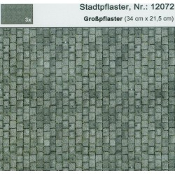 Heki 12072, Płyty drogowe, chodnikowe duże, H0, 3 arkusze,