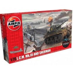 Airfix 03301, LCM & Sherman, skala 1:76