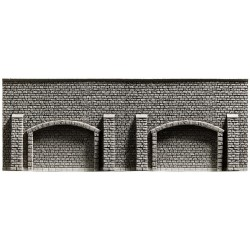 NOCH 34858, Mur oporowy z przyporami i arkadami, skala N (1:160).