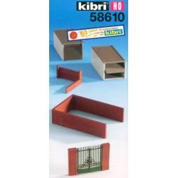 Kibri 58610, Dwa garaże (plus) skala H0