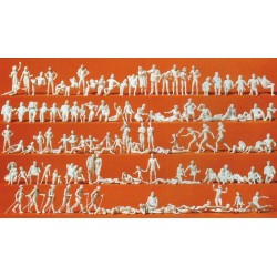 Preiser 16357, Zestaw 120 figurek niemalowanych, skala H0.