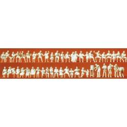 Preiser 16356, Osoby siedzące, ogródek piwny, H0
