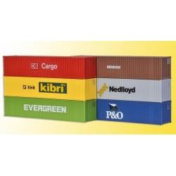 KIBRI 10922, Zestaw: 6 kontenerów 40ft, skala H0.