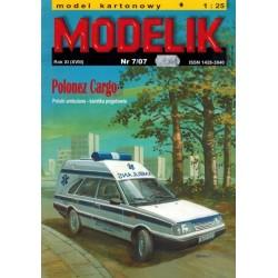 MODELIK 0707, Polonez Cargo Ambulans, skala 1:25