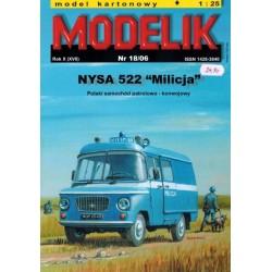 """MODELIK 0618, NYSA 522 """"Milicja"""", skala 1:25"""