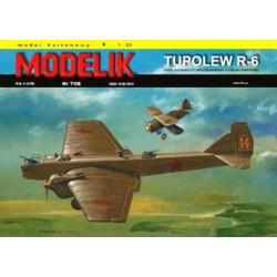 MODELIK 0607, Tupolew R-6, skala 1:33