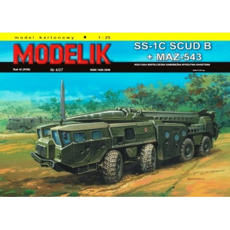 MODELIK 0704, SS-1C SCUD B/MAZ-543, skala 1:25