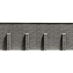 NOCH 58056, Mur oporowy z przyporami, 33 x 12,5 cm, skala H0.