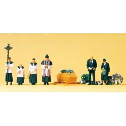 Preiser 10520, Ceremonia pogrzebowa, skala H0