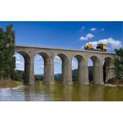 Kibri 39724, Kamienny wiadukt kolejowy, 63 cm. Skala H0.