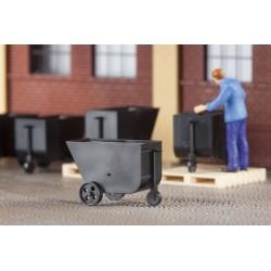 Auhagen 41640, Wózki fabryczne / kopalniane, 9 szt. skala H0.