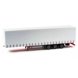 Herpa 075664, Lowliner curtain canvas trailer, 3-os., skala H0