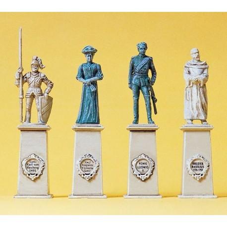 Preiser 10525, Cztery pomniki na cokołach, skala H0
