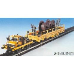 Kibri 16062, Unimog drogowo-torowy z wagonem i ładunkiem, H0