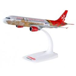 "Herpa 611411, Air Malta Airbus A320 ""Valletta"", skala 1:200."