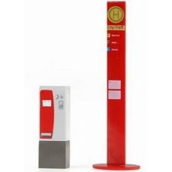 Rietze 70180, Przystanek i automat biletowy, skala H0.