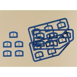 Auhagen 80218, Okna M niebieskie, BKS, skala H0
