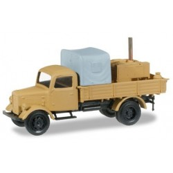 Herpa 745017, Truck with field kitchen, lumber and canvas cover